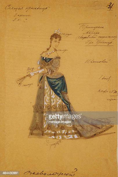 Costume design for the ballet Sleeping Beauty by P Tchaikovsky 1887 Found in the collection of the State Museum of Theatre and Music Art St Petersburg
