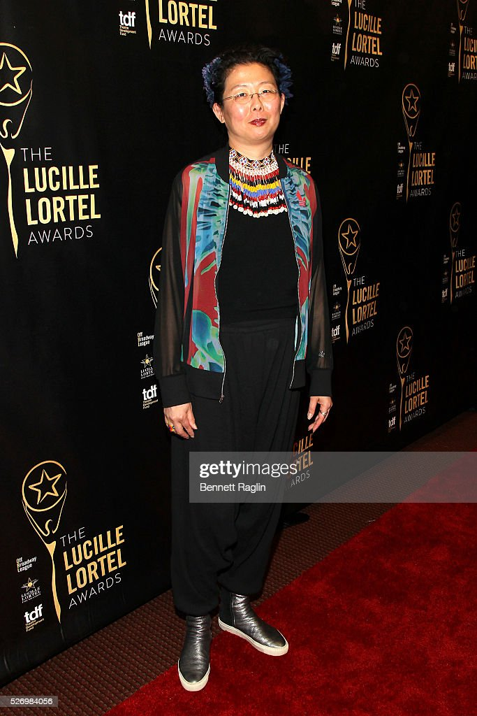 Costume designer Anita Yavich arrives at the 31st Annual Lucille Lortel Awards at NYU Skirball Center on May 1, 2016 in New York City.