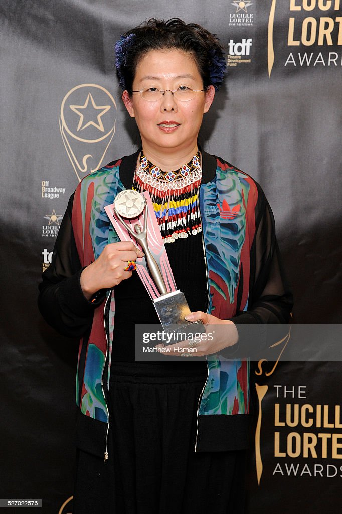 Costume designer Anita Yavich attends the press room for the 31st Annual Lucille Lortel Awards at NYU Skirball Center on May 1, 2016 in New York City.