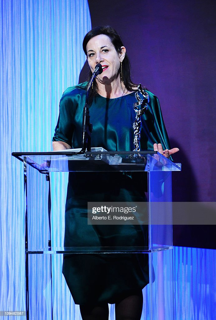 Costume designer Arianne Phillips accepts the Excellence in Period Film Award onstage during the 14th Annual Costume Designers Guild Awards With Presenting Sponsor Lacoste held at The Beverly Hilton hotel on February 21, 2012 in Beverly Hills, California.