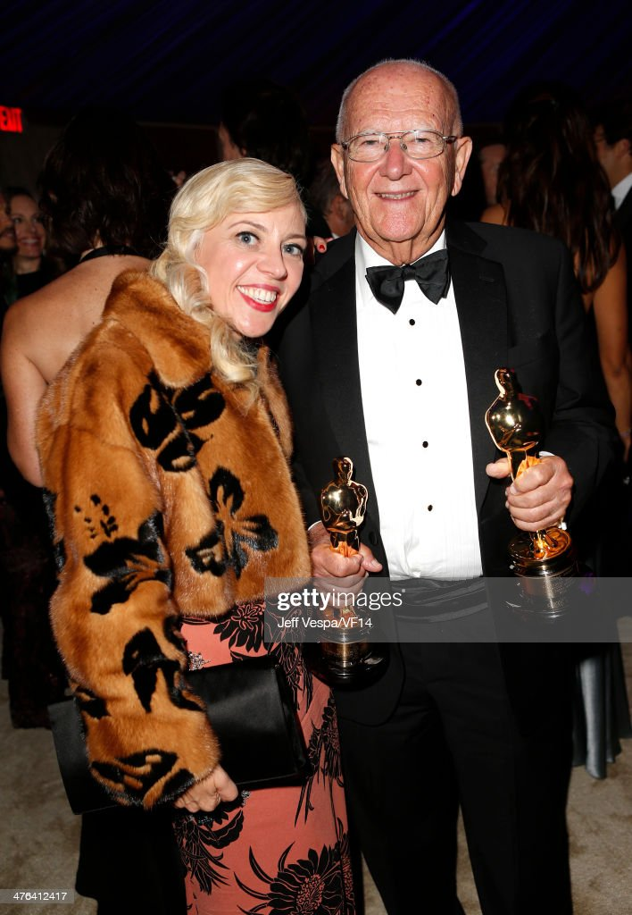 Costume designer <a gi-track='captionPersonalityLinkClicked' href=/galleries/search?phrase=Catherine+Martin&family=editorial&specificpeople=226991 ng-click='$event.stopPropagation()'>Catherine Martin</a> (L) attends the 2014 Vanity Fair Oscar Party Hosted By Graydon Carter on March 2, 2014 in West Hollywood, California.