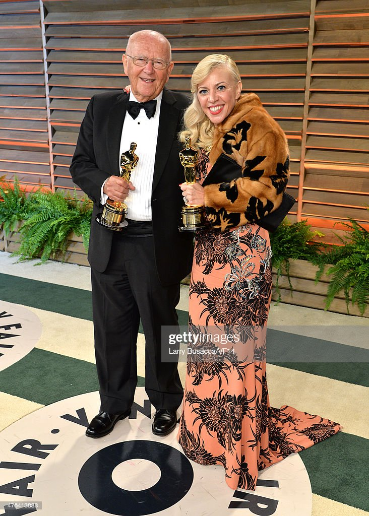 Costume designer <a gi-track='captionPersonalityLinkClicked' href=/galleries/search?phrase=Catherine+Martin&family=editorial&specificpeople=226991 ng-click='$event.stopPropagation()'>Catherine Martin</a> (R) attends the 2014 Vanity Fair Oscar Party Hosted By Graydon Carter on March 2, 2014 in West Hollywood, California.