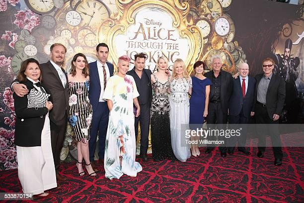 Costume designer Colleen Atwood director James Bobin actors Anne Hathaway Sacha Baron Cohen singersongwriter Pnk actors Johnny Depp Mia Wasikowska...