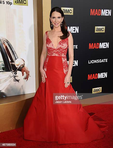 Costume designer Janie Bryant attends the 'Mad Men' Black Red Ball at Dorothy Chandler Pavilion on March 25 2015 in Los Angeles California