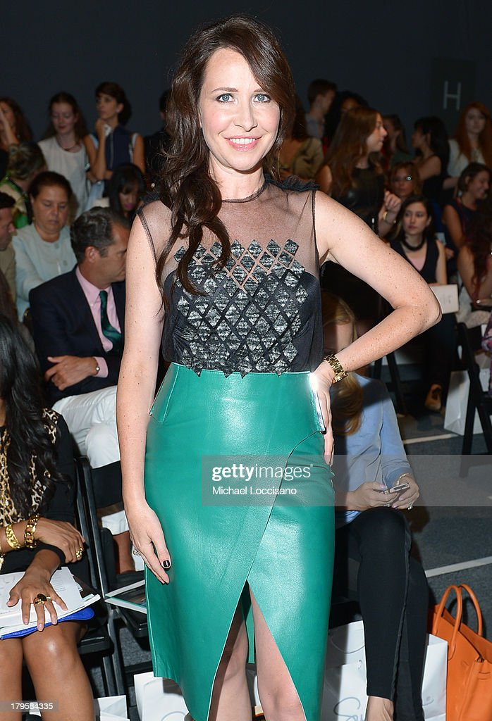 Costume designer Janie Bryant attends the Supima Spring 2014 fashion show during Mercedes-Benz Fashion Week at The Studio at Lincoln Center on September 5, 2013 in New York City.