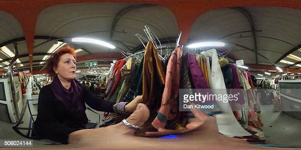 Costume Designer Joanna Eatwell searches for items at Angels Costume House on January 20 2016 in London England Angels Costumes established in 1840...