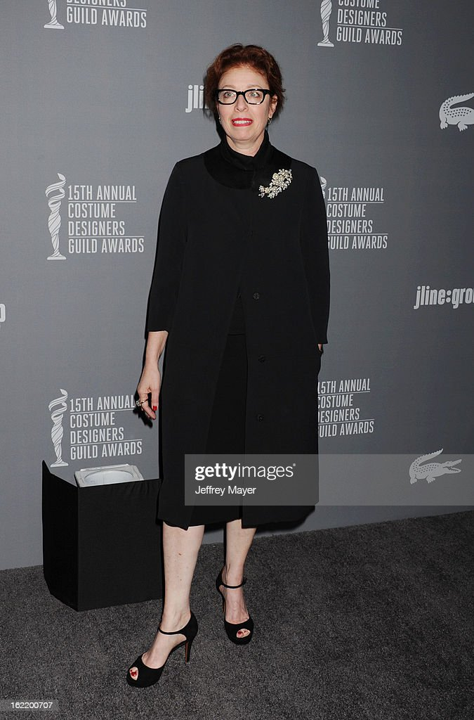 Costume Designer Judianna Makovsky arrives at the 15th Annual Costume Designers Guild Awards at The Beverly Hilton Hotel on February 19, 2013 in Beverly Hills, California.