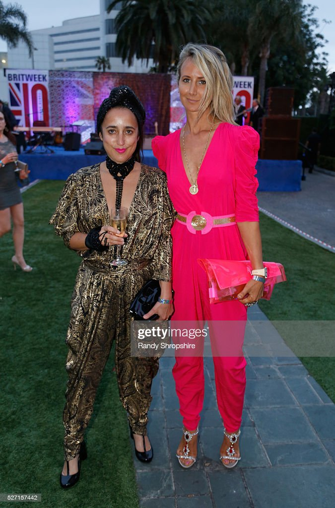 Costume designer Julia Clancey (L) and Lady <a gi-track='captionPersonalityLinkClicked' href=/galleries/search?phrase=Victoria+Hervey&family=editorial&specificpeople=208911 ng-click='$event.stopPropagation()'>Victoria Hervey</a> attend BritWeek's 10th Anniversary VIP Reception & Gala at Fairmont Hotel on May 1, 2016 in Los Angeles, California.