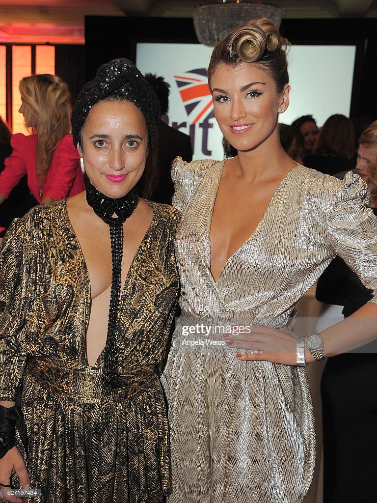 Costume designer Julia Clancey (L) and Miss Universe Great Britain, <a gi-track='captionPersonalityLinkClicked' href=/galleries/search?phrase=Amy+Willerton&family=editorial&specificpeople=8785597 ng-click='$event.stopPropagation()'>Amy Willerton</a> attend BritWeek's 10th Anniversary VIP Reception & Gala at Fairmont Hotel on May 1, 2016 in Los Angeles, California.