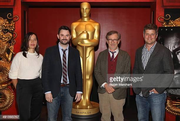 Costume Designer Kasia Walicka Maimone writer Matt Charman director Steven Spielberg and production designer Adam Stockhausen attend The Academy Of...