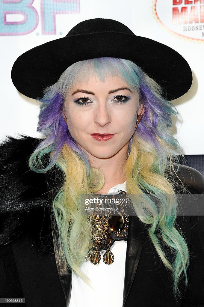 Costume designer Kit Scarbo arrives at the Los Angeles premiere of 'G.B.F.' at Chinese 6 Theater in Hollywood on November 19, 2013 in Hollywood, California.
