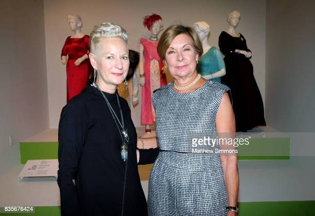 Costume designer Lou Eyrich of the emmy nominated show 'FEUD Bette and Joan' and FIDM director Barbara Bundy attend the media preview of the 11th...