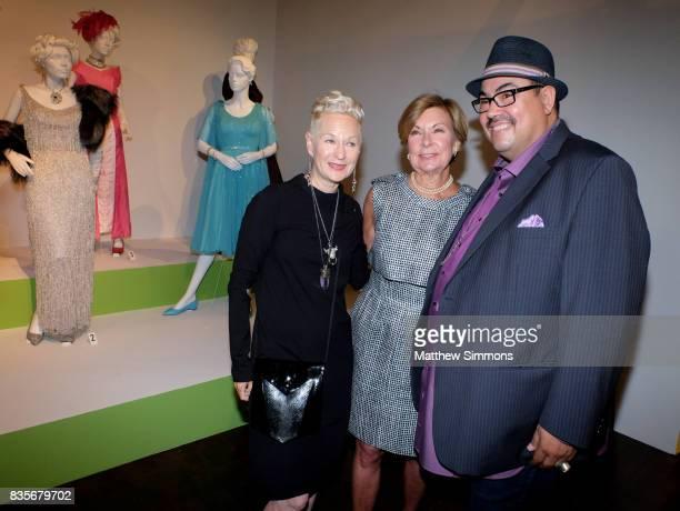 Costume designer Lou Eyrich of the emmy nominated show 'FEUD Bette and Joan' FIDM director Barbara Bundy and costume designer Salvador Perez attend...
