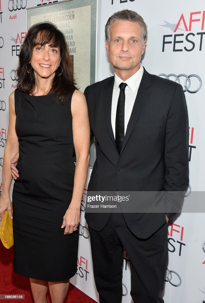 Costume designer Mary Zophres (L) and writer Murray Valeriano attend the AFI FEST 2013 presented by Audi closing night gala screening of 'Inside Llewyn Davis' at TCL Chinese Theatre on November 14, 2013 in Hollywood, California.