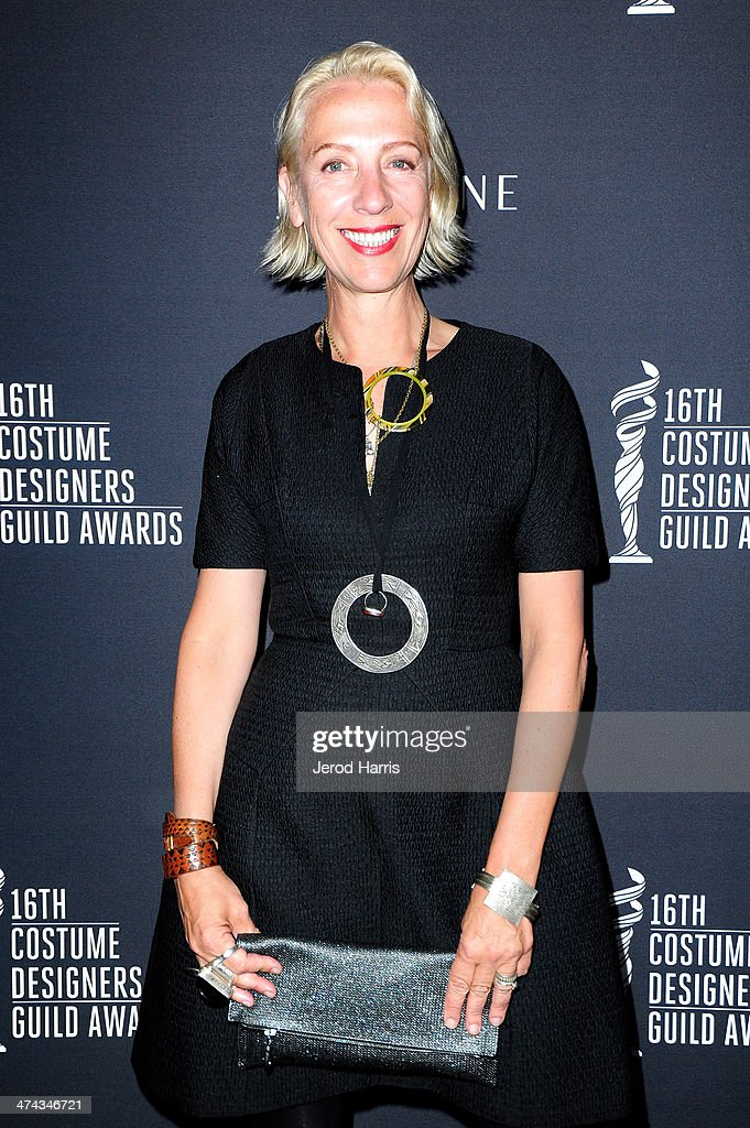Costume Designer Michele Clapton attends the 16th Costume Designers Guild Awards with presenting sponsor Lacoste at The Beverly Hilton Hotel on February 22, 2014 in Beverly Hills, California.