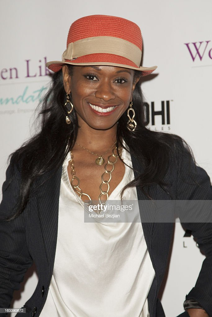 Costume designer Okera Banks attends Pre-LAFW Launch Party In Support Of The Women Like Us Foundation at Lexington Social House on March 8, 2013 in Hollywood, California.