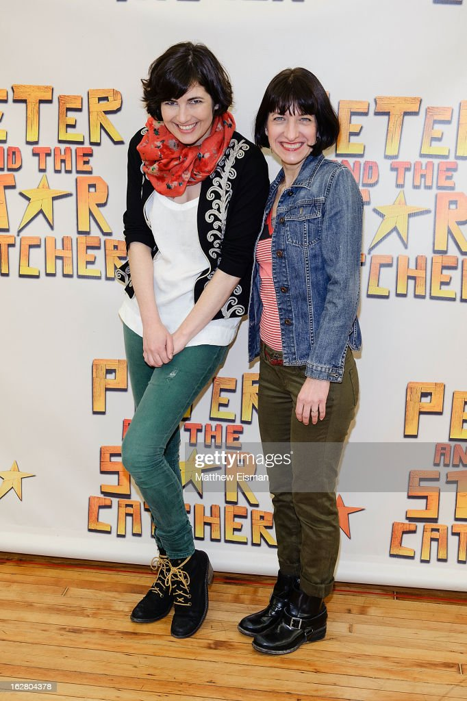 Costume designer Paloma Young (L) and set designer Donyale Werle attend the press preview of new cast of 'Peter And The Starcatcher' at Gibney Dance Center on February 27, 2013 in New York City.