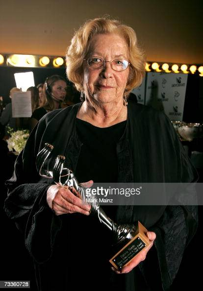 ACCESS* Costume designer Patricia Norris poses with her Lacoste Career Achievement in Film Award backstage during the 9th annual Costume Designers...