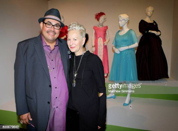 Costume designer Salvador Perez and costume designer Lou Eyrich of the emmy nominated show 'FEUD Bette and Joan' attend the media preview of the 11th...