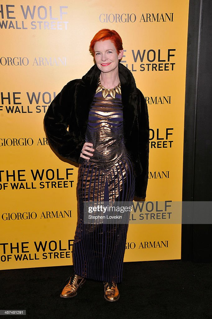 Costume Designer <a gi-track='captionPersonalityLinkClicked' href=/galleries/search?phrase=Sandy+Powell&family=editorial&specificpeople=233793 ng-click='$event.stopPropagation()'>Sandy Powell</a> attends Giorgio Armani Presents: 'The Wolf Of Wall Street' world premiere at the Ziegfeld Theatre on December 17, 2013 in New York City.