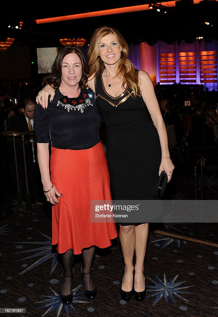 Costume Designer Susie DeSanto (L) and actress Connie Britton attends the 15th Annual Costume Designers Guild Awards with presenting sponsor Lacoste at The Beverly Hilton Hotel on February 19, 2013 in Beverly Hills, California.