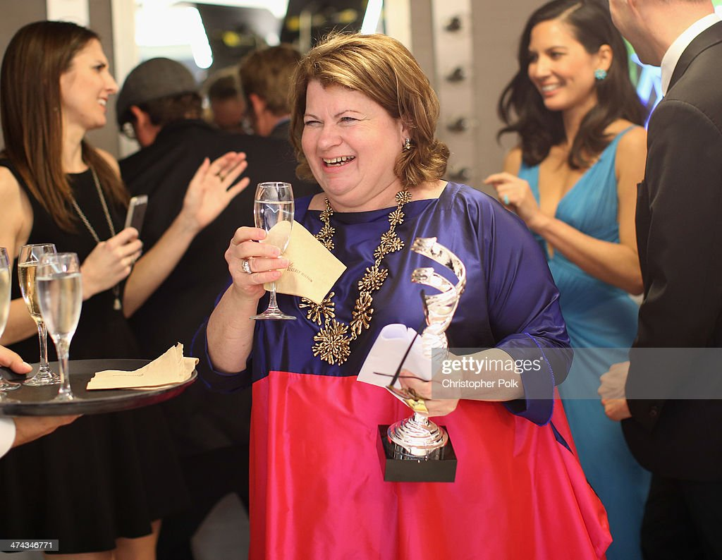 Costume Designer Suzy Benzinger, winner of Excellence in Costume Design in Contemporary Film, Blue Jasmine, attends the 16th Costume Designers Guild Awards with presenting sponsor Lacoste at The Beverly Hilton Hotel on February 22, 2014 in Beverly Hills, California.
