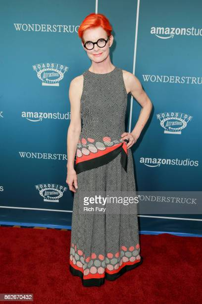 Costume designer/executive producer Sandy Powell attends the premiere of Roadside Attractions' 'Wonderstruck' at the Los Angeles Theatre on October...