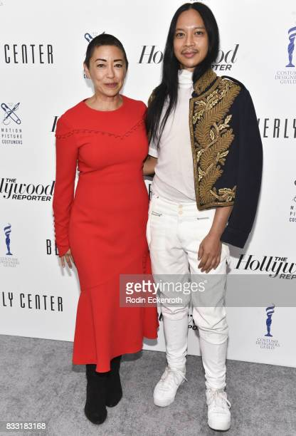 Costume designers Ane Crabtree and Zaldy Goco attend Candidly Costumes at The Beverly Center on August 16 2017 in Los Angeles California