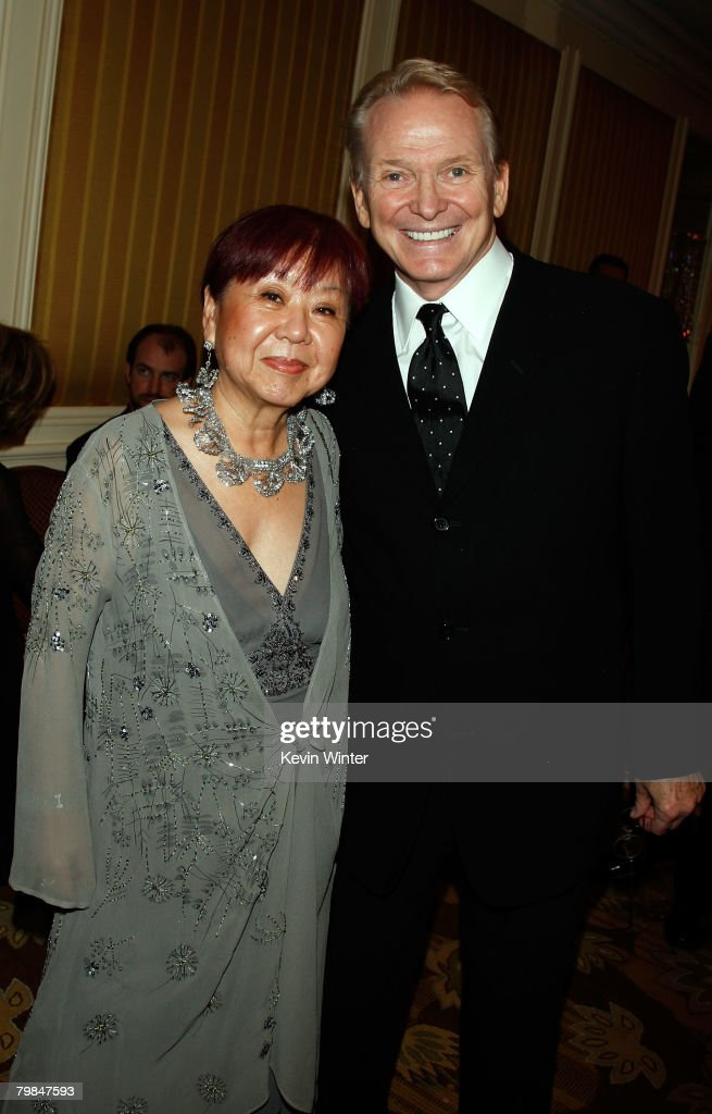Costume Designers Guild President Mary Rose (L) and costume designer Bob Mackie attend the 10th Annual Costume Designers Guild Awards VIP reception held at the Beverly Wilshire Hotel on February 19, 2008 in Beverly Hills, California.