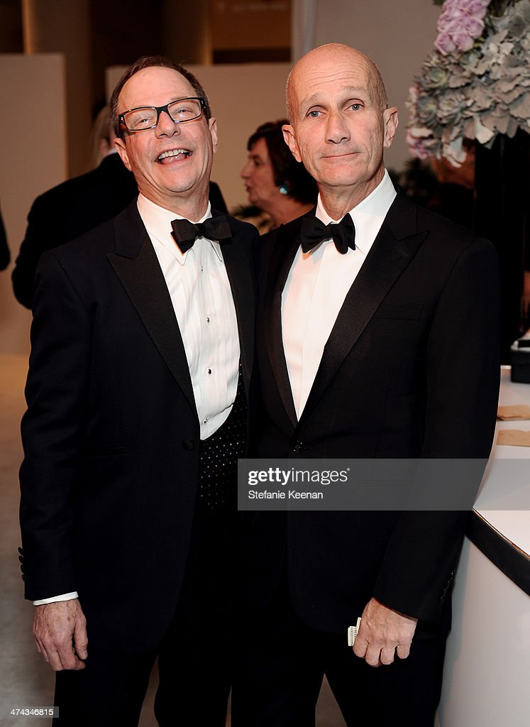 Costume designers John A. Dunn (L) and Daniel Orlandi attend the 16th Costume Designers Guild Awards with presenting sponsor Lacoste at The Beverly Hilton Hotel on February 22, 2014 in Beverly Hills, California.