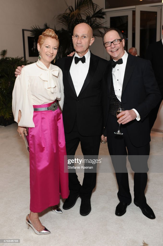 Costume designers Lou Eyrich, Daniel Orlandi and John Dunn attend the 16th Costume Designers Guild Awards with presenting sponsor Lacoste at The Beverly Hilton Hotel on February 22, 2014 in Beverly Hills, California.