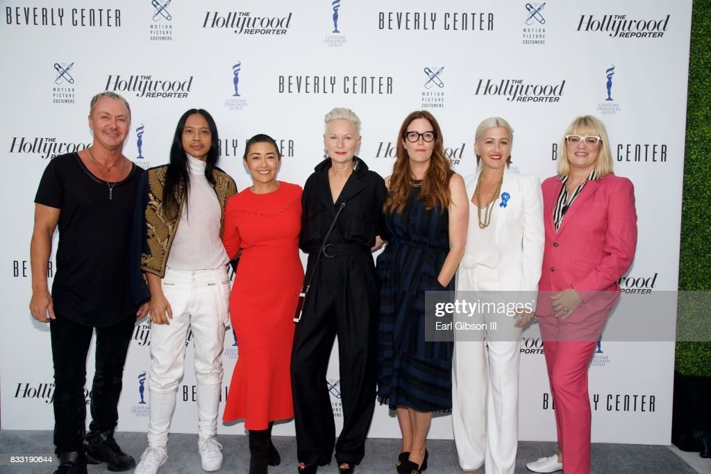 Costume Designers Perry Meek, Zaldy Goco, Ane Crabtree, Lou Eyrich, Alix Friedberg, Trish Summerville and Marie Schley attend the Beverly Center And The Hollywood Reporter Presend: Candidly Costumes at The Beverly Center on August 16, 2017 in Los Angeles, California.