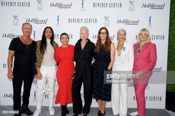 Costume Designers Perry Meek Zaldy Goco Ane Crabtree Lou Eyrich Alix Friedberg Trish Summerville and Marie Schley attend the Beverly Center And The...