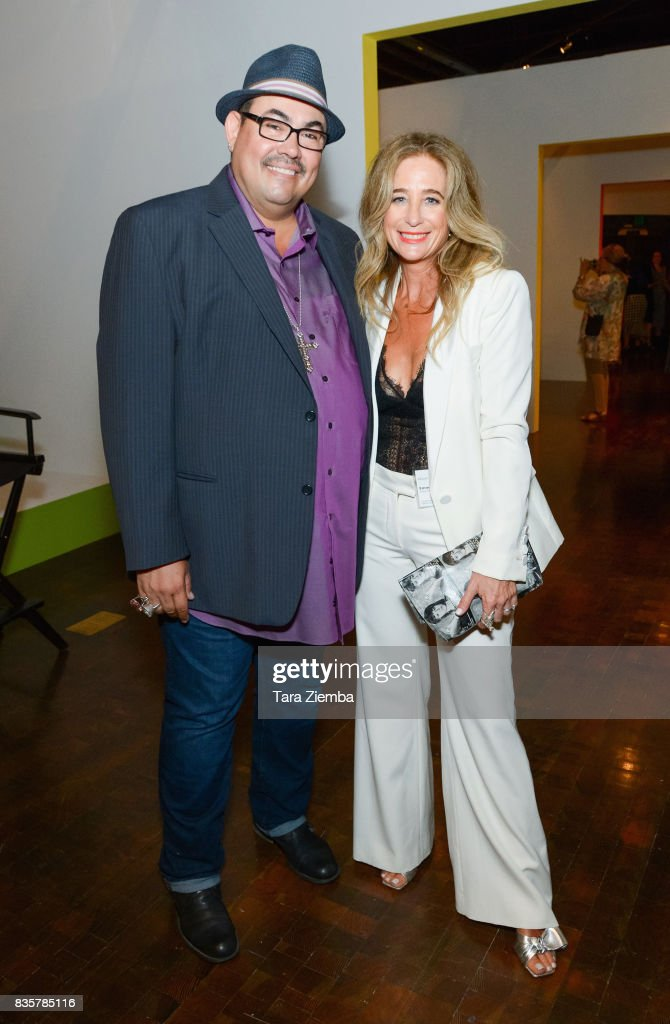 Costume designers Salvador Perez and Allyson B. Fanger attend the media preview of the 11th annual 'Art Of Television Costume Design' exhibition at FIDM Museum & Galleries on the Park on August 19, 2017 in Los Angeles, California.