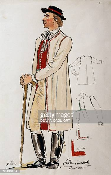 Costume for The Bartered Bride by Bedrich Smetana sketch