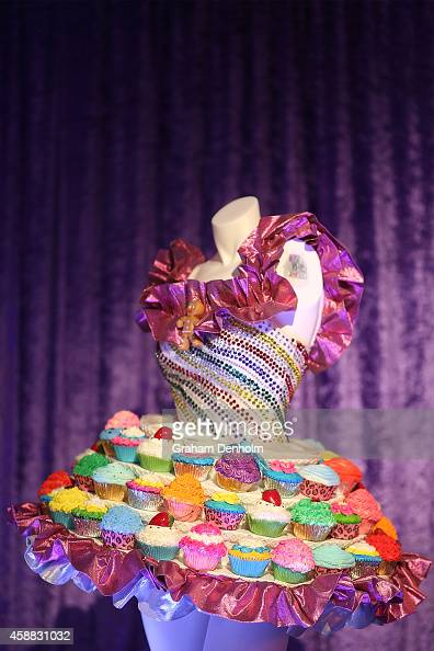A costume from Katy Perry's live show is seen at Katy Perry's PopUp shop on November 12 2014 in Melbourne Australia
