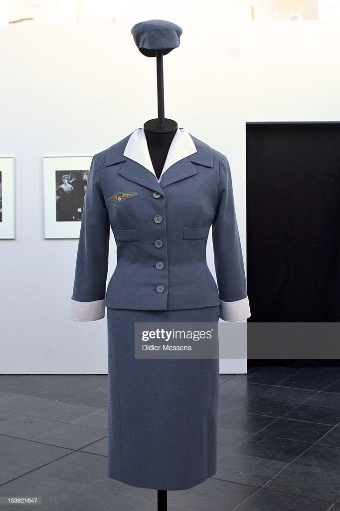 A costume from the 1959 movie An Engel Auf Erden is shown as part of The Romy Schneider Exhibition at Caermersklooster on October 11, 2012 in Ghent, Belgium.