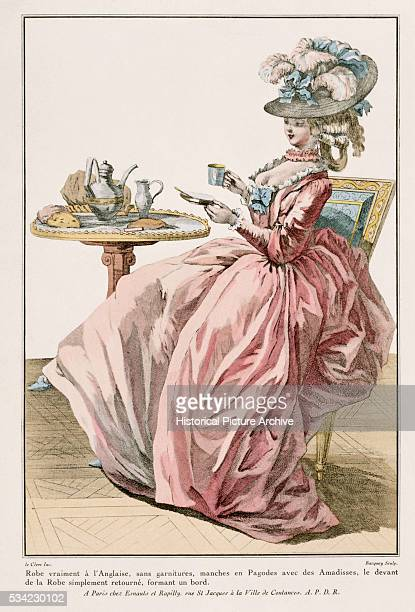 Costume Print of Lady in EnglishStyle Dress by Bacquoy and Le Clerc