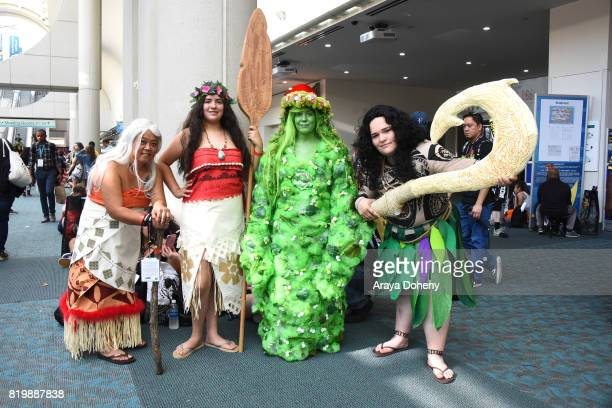 Costumed cosplayers attend ComicCon International on July 20 2017 in San Diego California