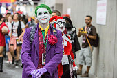 A costumed fan attends ComicCon International Day 3 on July 22 2016 in San Diego California
