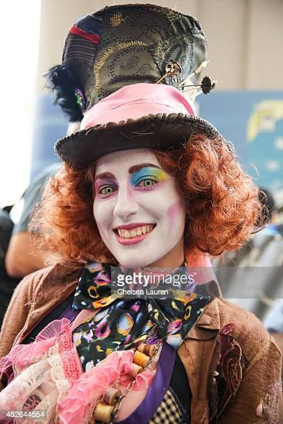 A costumed fan attends ComicCon International on July 24 2014 in San Diego California
