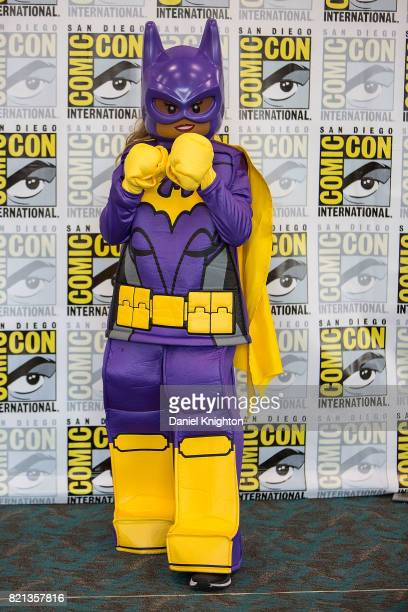 A costumed fan attends Day 4 of ComicCon International on July 23 2017 in San Diego California