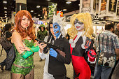 Costumed fans attend ComicCon International Day 3 on July 22 2016 in San Diego California