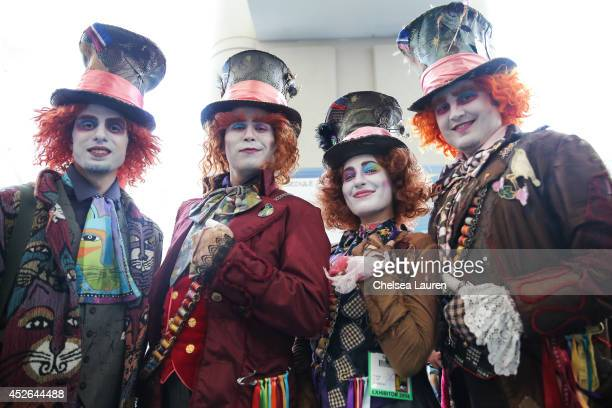 Costumed fans attend ComicCon International on July 24 2014 in San Diego California