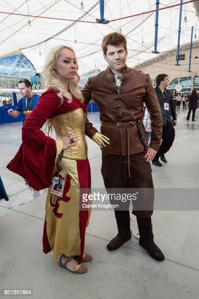 Costumed fans attend Day 4 of ComicCon International on July 23 2017 in San Diego California