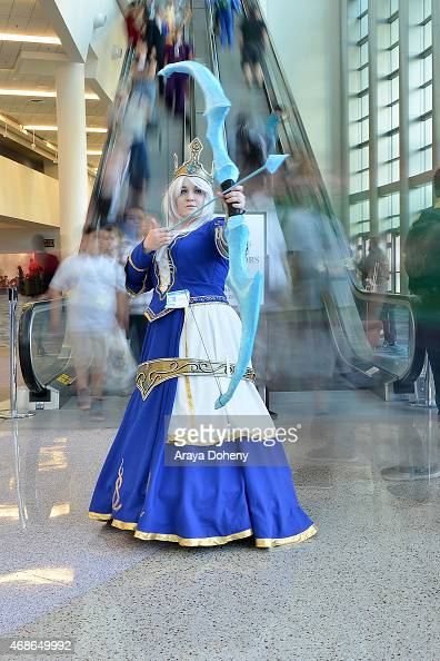 A costumed guest attends WonderCon Anaheim 2015 at Anaheim Convention Center on April 4 2015 in Anaheim California