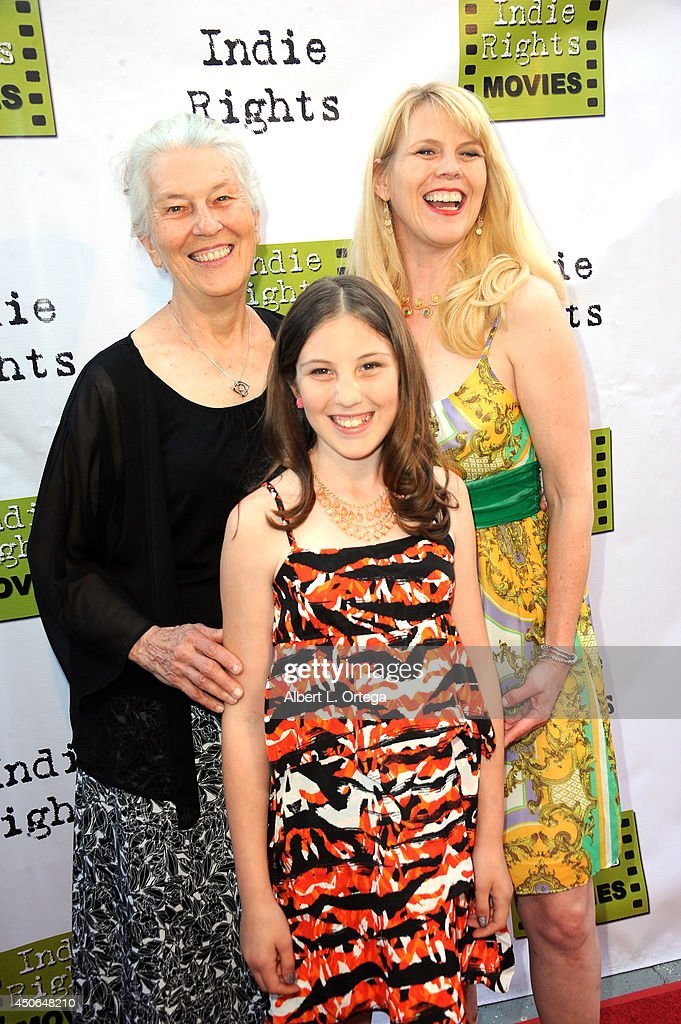 Costumer Dula Baker; actress Alex Baker and actress Karalena Morehead arrive for the Premiere Of 'The World Famous Kid Detective' held at The Arena Theater on June 14, 2014 in Hollywood, California.