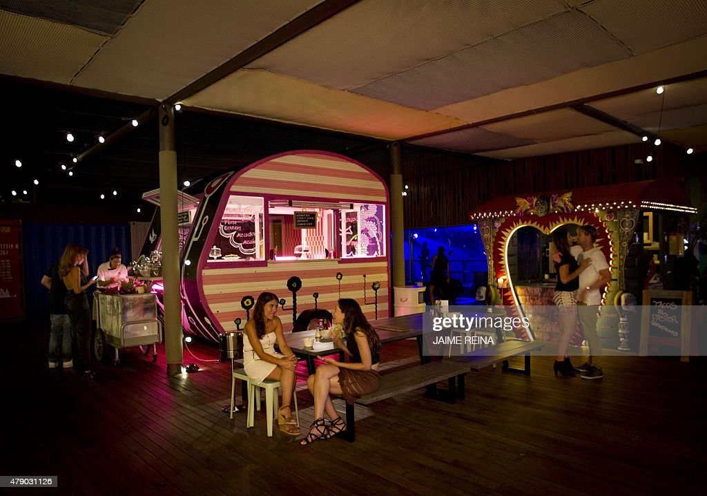 costumers enjoy at the terrace of the heart restaurant in ibiza on june 29 2015 - Contemporary Restaurant 2015