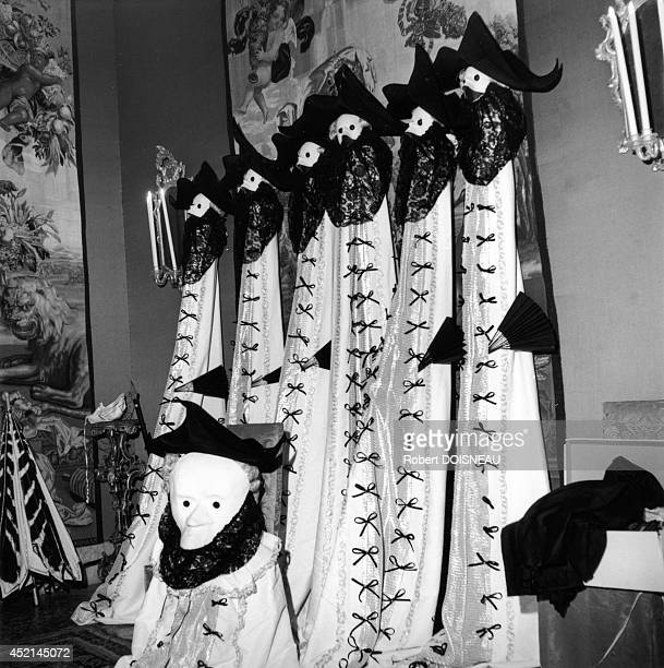 Costumes at 'Le Bal Oriental' organized by Carlos de Beistegui at the Palazzo Labia on September 3 1951 in Venice Italy