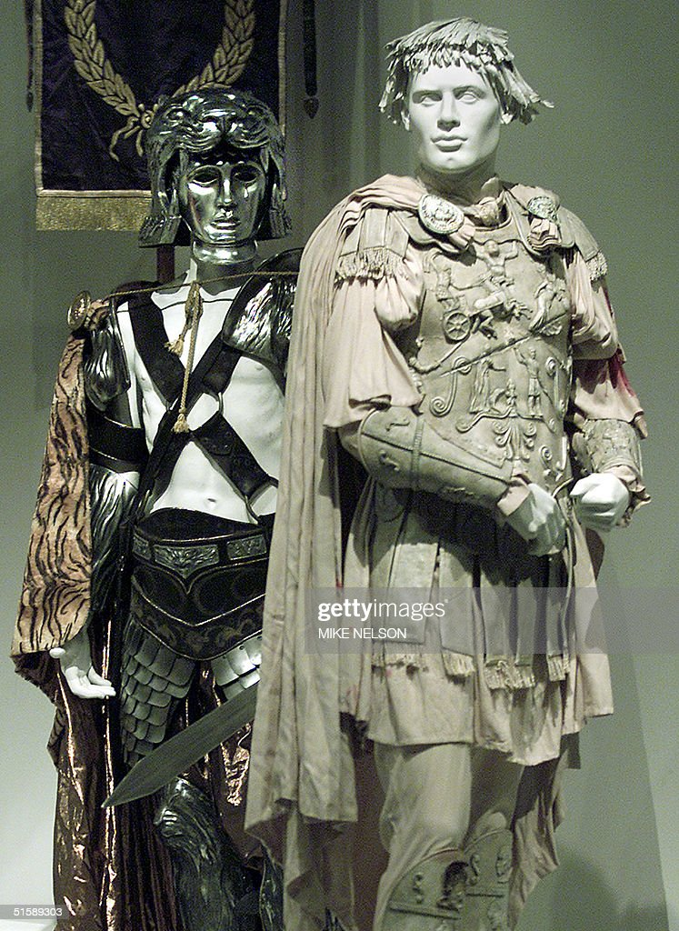 Costumes from the Oscarnominated movie 'Gladiator' are displayed for the media at the Fashion Institute of Design Merchandising museum gallery in Los...